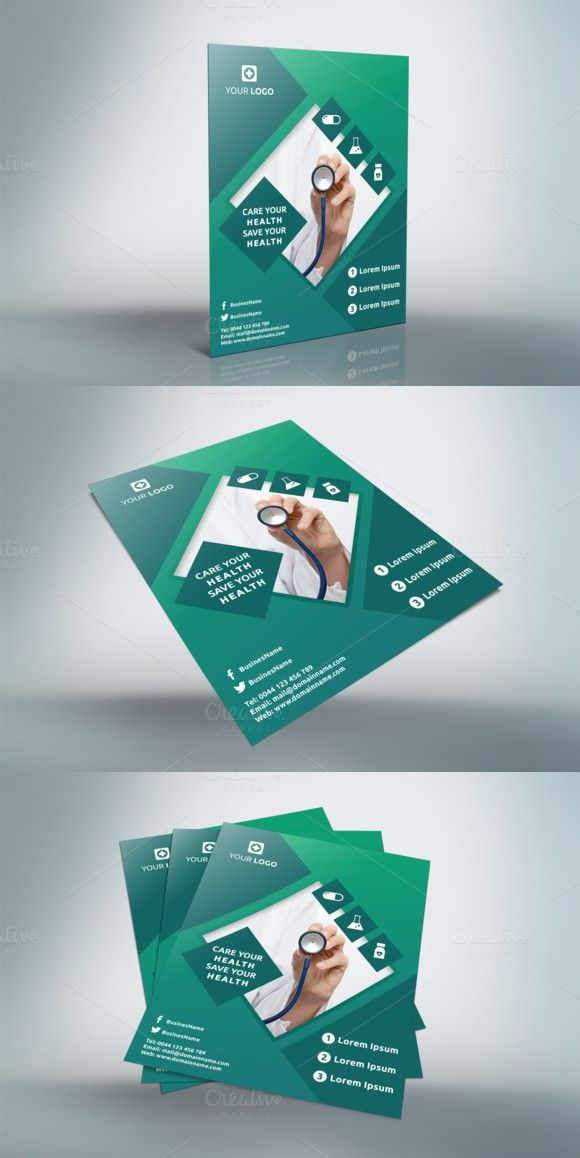 Hospital Flyer - v014 Flyer Templates $200 Flyer Templates - hospital flyer template