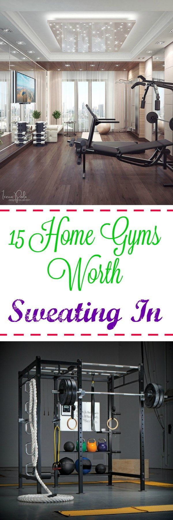 15 Home Gyms Worth Sweating In