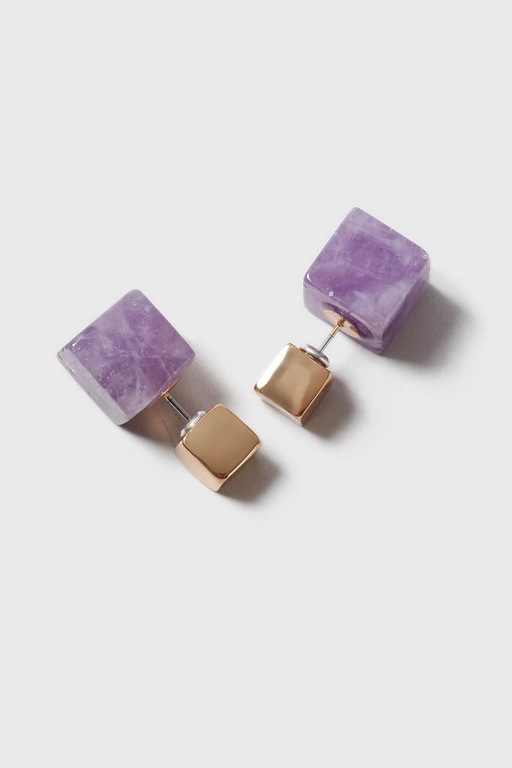 Amethyst Front And Back Earrings
