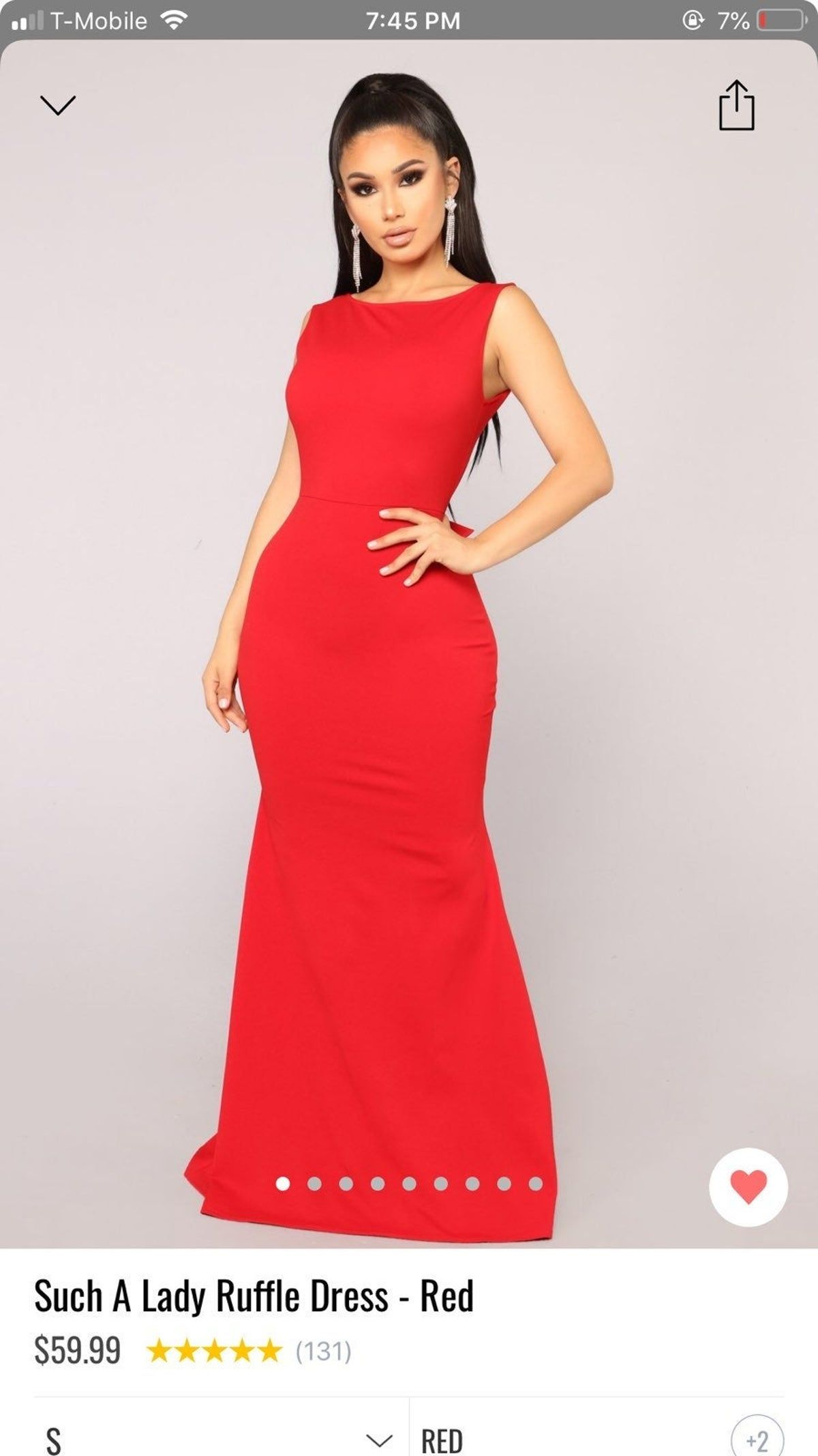 This is a very nice red dress for special occasion. I wore I once. #fashionnova #reddress