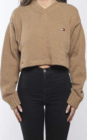 c05279e8aec Vintage Tommy Hilfiger Crop Knit Sweater | College Outfits in 2019 ...