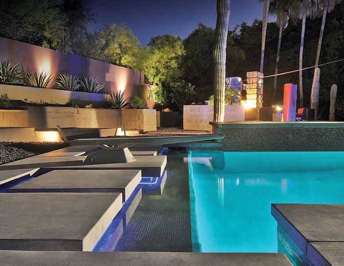 Luxury swimming poolsT7  Diving System  active diving base   Brandenburg Pool Inc  . Luxury Lighting Az. Home Design Ideas