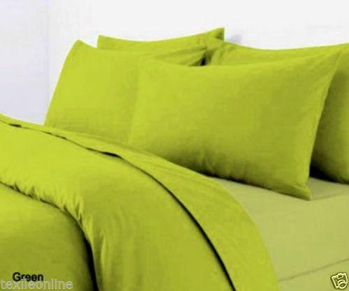 Plain Dyed Duvet Cover Quilt Bedding Set With Pillowcase Single Double King Size Quilt Sets Bedding Green Duvet Covers Quilted Duvet