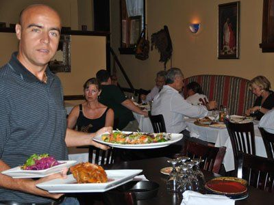 Our favorite place to eat in the whole world!  Turkish Meze in Mamaroneck.