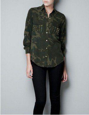 ce97efca The metal rivets double pocket leisure Camouflage denim shirt shirt on  AliExpress.com. $19.99