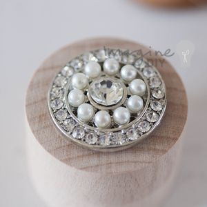DIY wedding stationery supplies. Round pearl and crystal embellishment. Decoration to make your own wedding invitations