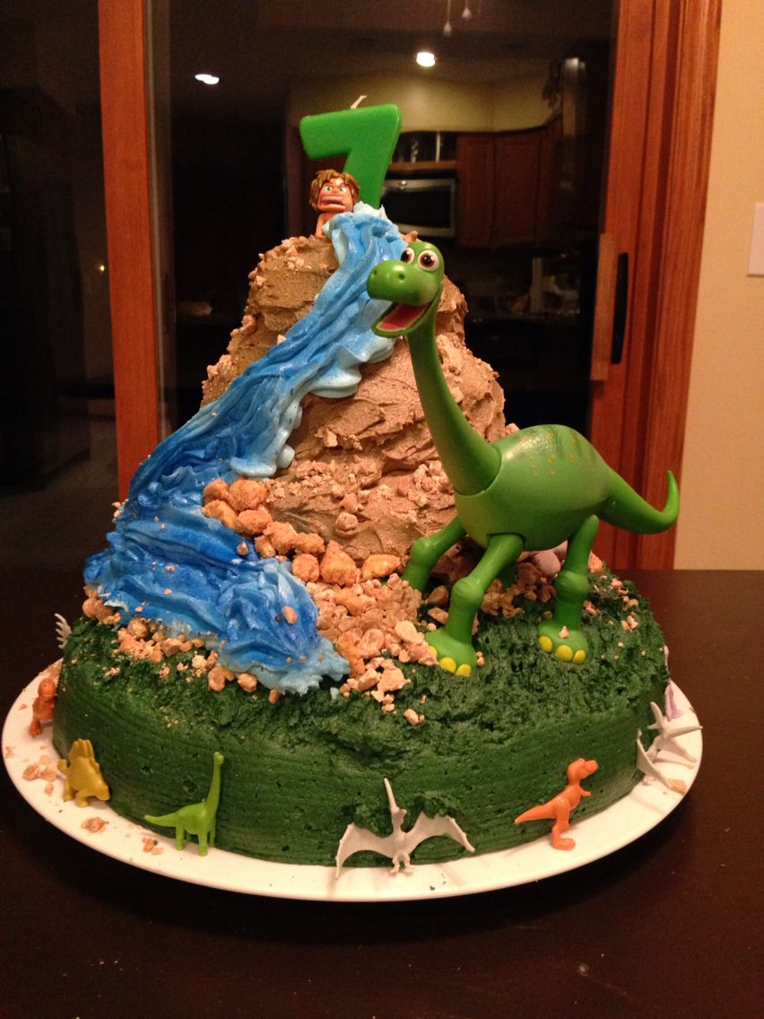 This is the Good Dinosaur cake for my sons 7th birthday My cakes