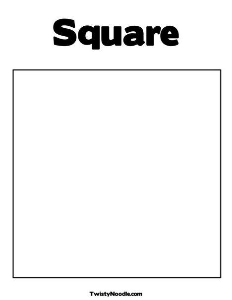 Square Coloring Page from TwistyNoodle Preschool