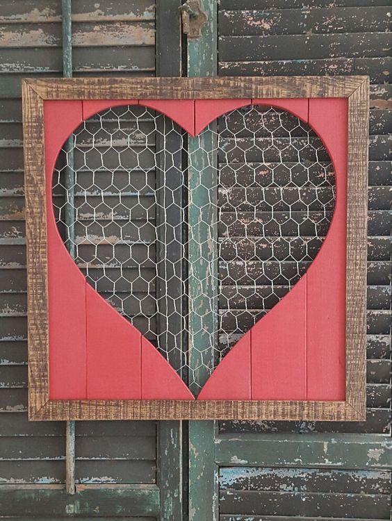 Heart ♡♡♡ | HEART OBSESSION! | Chicken wire crafts, Valentine