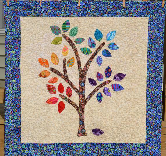 Happee Tree Quilt Pattern PDF- Applique the Easy Way- PDF #colorpalettecopies