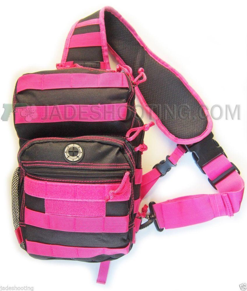 Dealer Tactical Night Stalker Black And Pink Small Sling Bag Pack Hiking