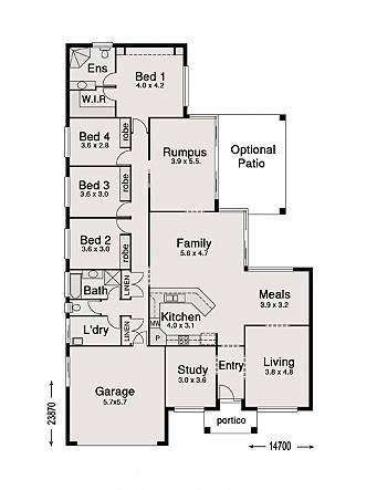 Single Storey Home Designs & Floor Plans | Design floor plans, House ...