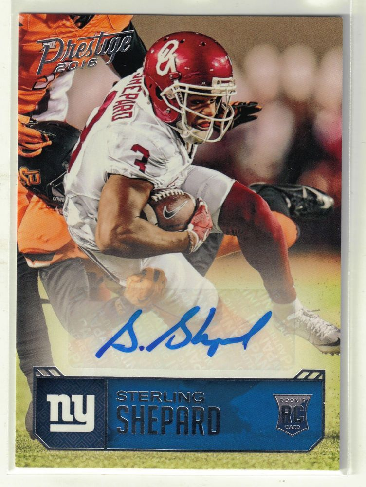 2016 Prestige Football Sterling Shepard Autograph Rookie