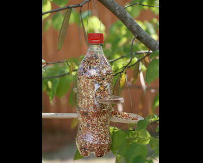 Tutorial on how to make this awesome bird feeder... Could be great for Cubs  http://www.herecomesthesunblog.net/2012/04/soda-bottle-bird-feeder.html
