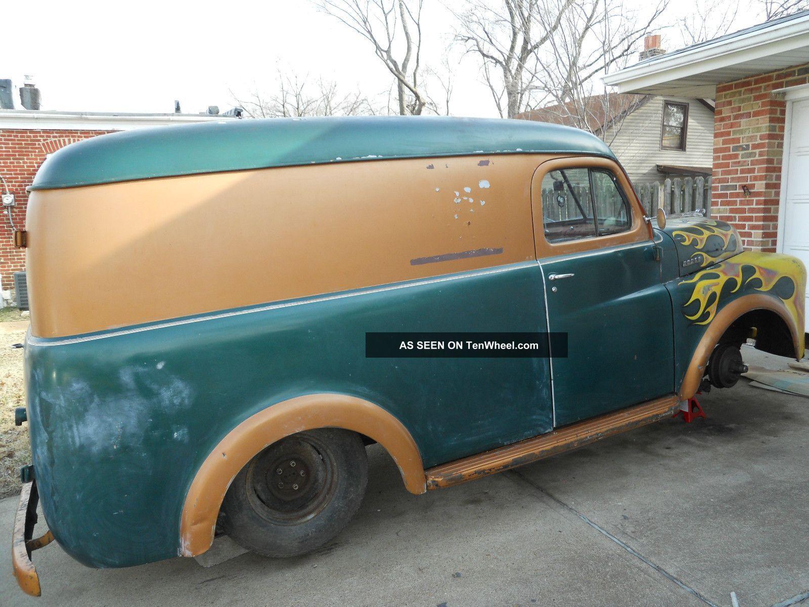 1950 Dodge Panel Sedan Delivery Rat Rod Hot Truck Pilot House Panel Truck Dodge Trucks Ford Pickup