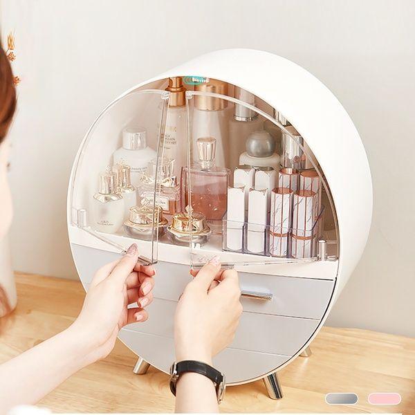 Photo of Large-Capacity Cosmetic Storage Box Dressing Table Shelf Beauty Acrylic Desktop Transparent Makeup Storage Box | Wish