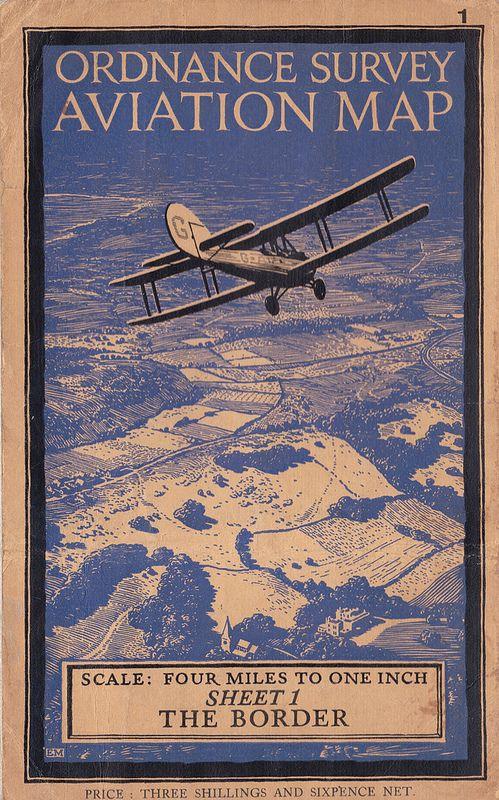Ordnance Survey Quarter Inch Civil Aviation Map Of Great Britain - Vintage aviation maps