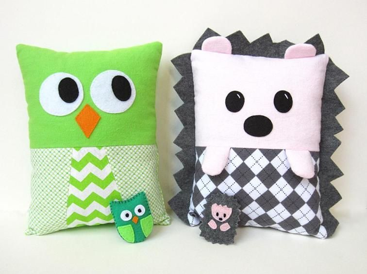 Hedgehog Owl Pillow Toy Sewing Pattern | Craftsy | Craft Ideas ...
