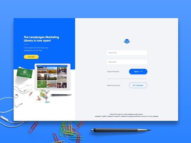 New Login Screen Login design, Web design, Web design