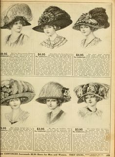 Pin by Kitti Millier on WOMENS HATS 1900-1920 Lots of Feathers ... 03d22edca5e