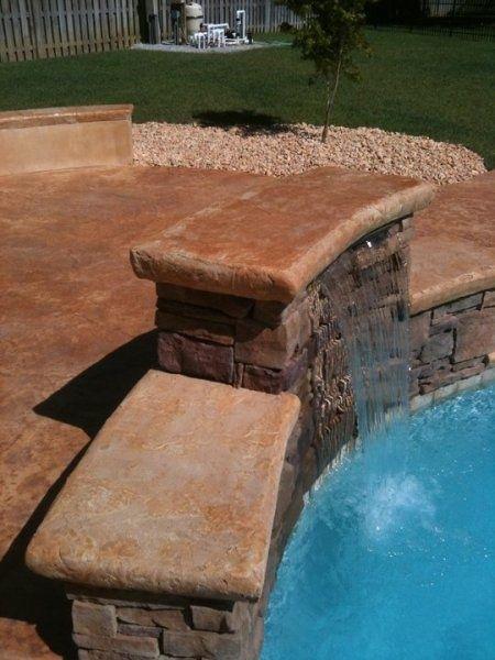 Custom Water Feature Southeast Texas Decorative Concrete