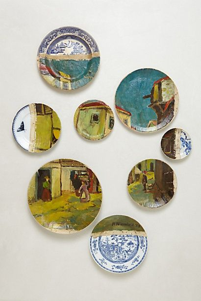 The Red Fez Plate Collage (Anthropologie)