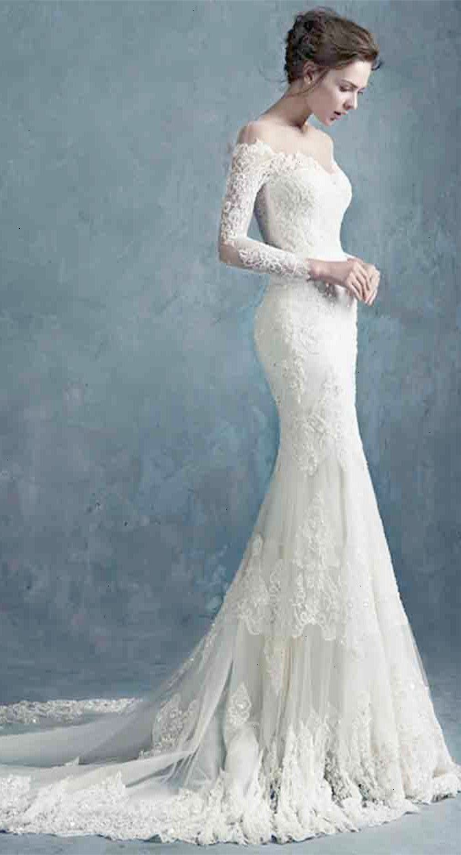 MY GOWN INSPIRATION-Charming Sheer Scoop Neck Lace Mermaid Wedding ...