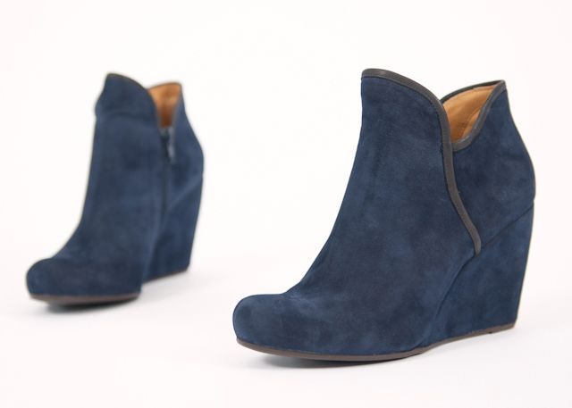 3f7c33e00dc OBSESSED. I need these so bad.coclico blue suede wedge booties ...