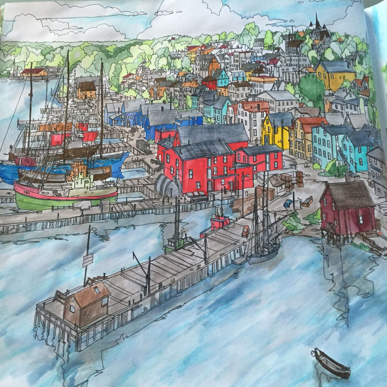 My Interpretation Of Lunenburg Nova Scotia Canada From Fantastic Cities Steve McDonald ScotiaColouring PagesColoring BooksMindfulCities