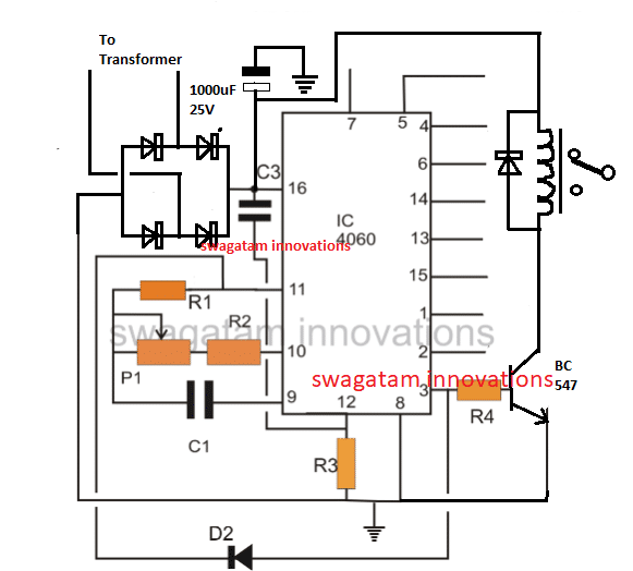 simple triac timer circuit electronic circuit projects
