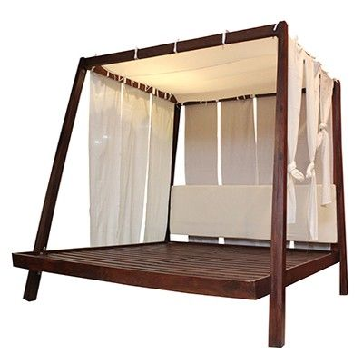 Fabindia Com Azzuro 4 Poster Bed With Fabric Curtains Bed Bed