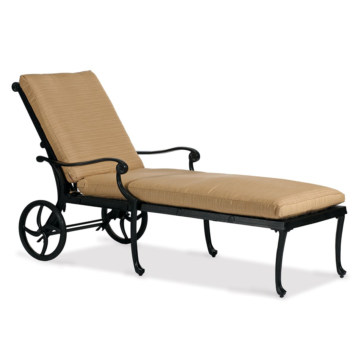Aluminum Chaise Lounge|Hedges Collection|Hand Cast|Sunbrella Cushions