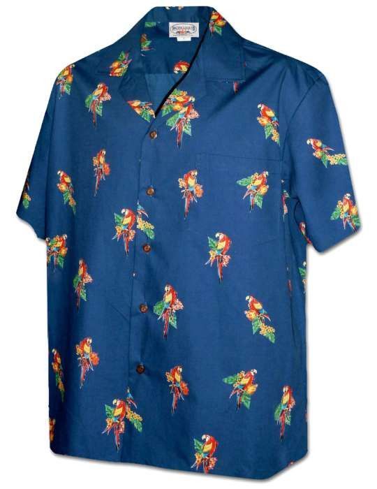 671e43da Parrot Head Island Aloha Shirt | Jimmy. | Aloha shirt, Mens hawaiian ...