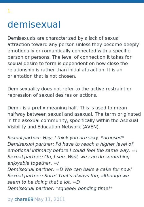 Demiromantic asexual definition urban