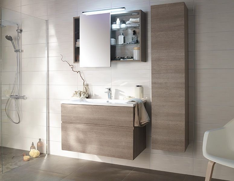 Castorama inspirations salle de bain calao vasque sdb pinterest inspi - Meuble salle de bain calao ...