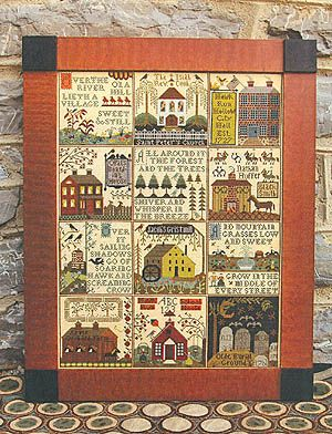 Village Of Hawk Run Hollow, The - Cross Stitch Pattern. By Carriage House Samplings. Future Project!