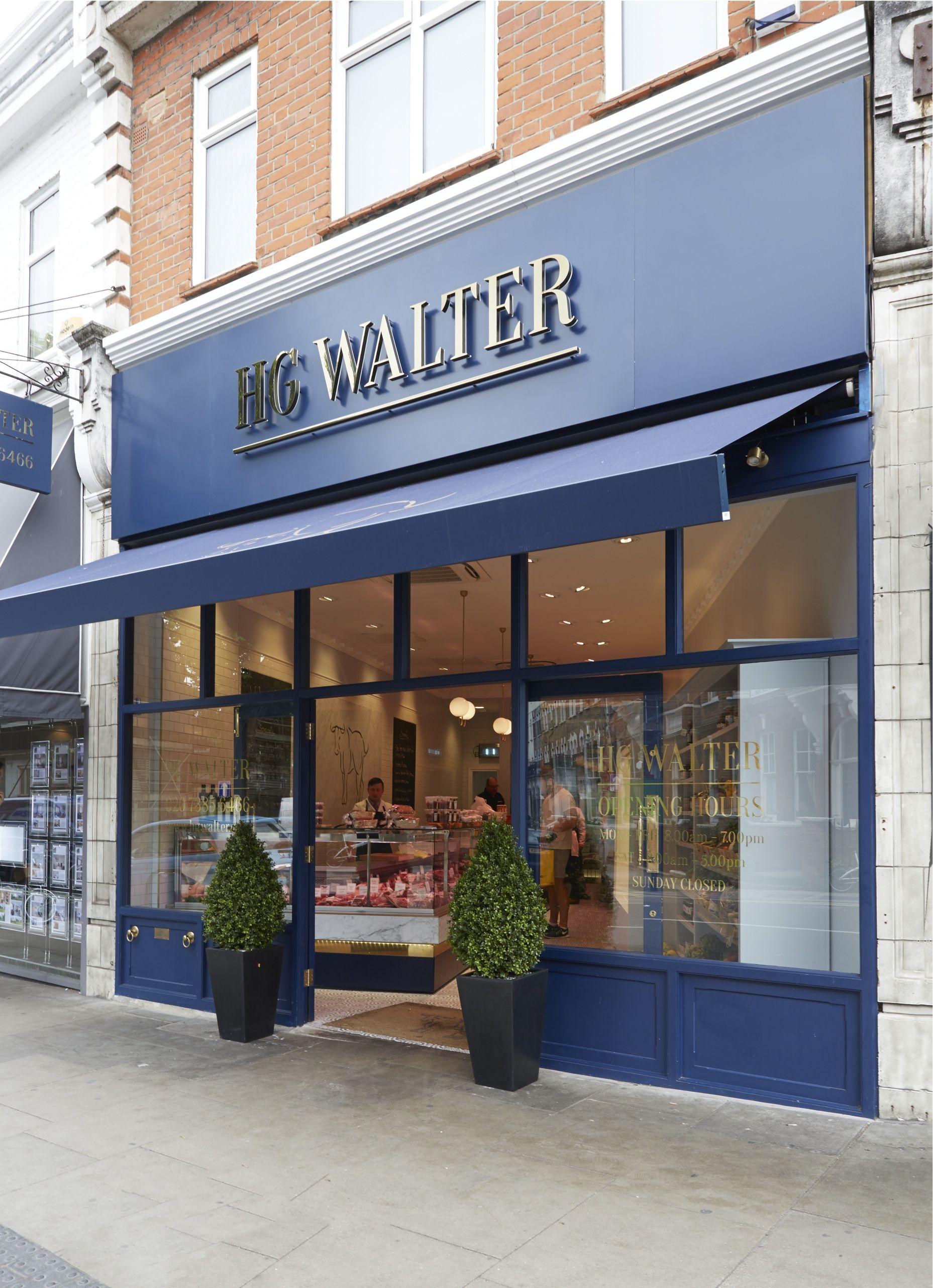 Walter Ltd fachada do açougue hg walter em londres hg walter butcher design