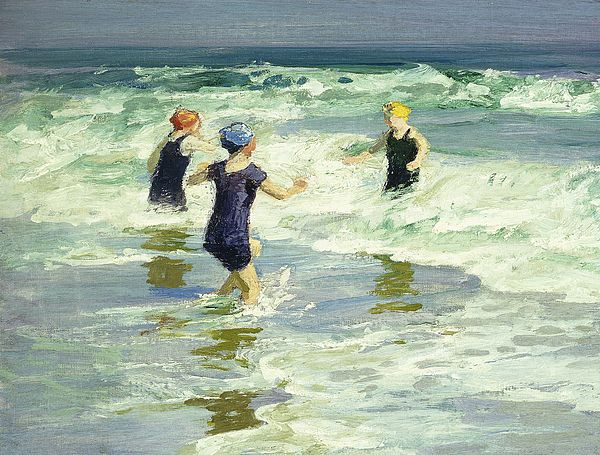 Three Of A Kind Painting by Edward Henry Potthast