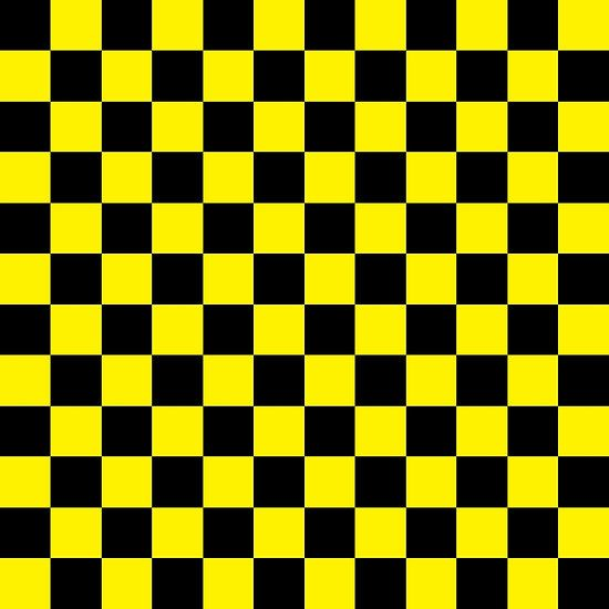 c166138f2 Checkered Black and Yellow | My Red Bubble in 2019 | White wallpaper ...