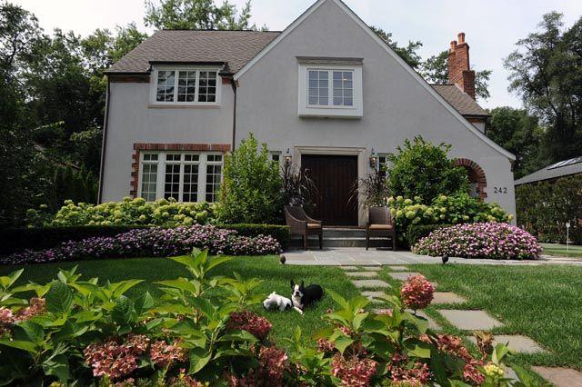 landscaping tudor home - google