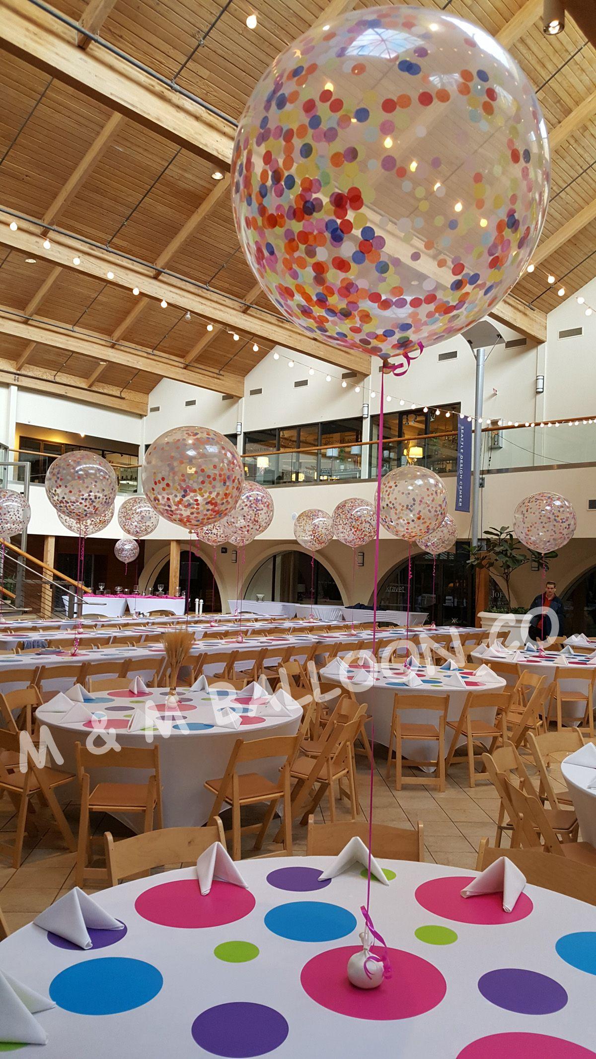 Confetti Balloon Centerpiece | Birthday party centerpieces ...