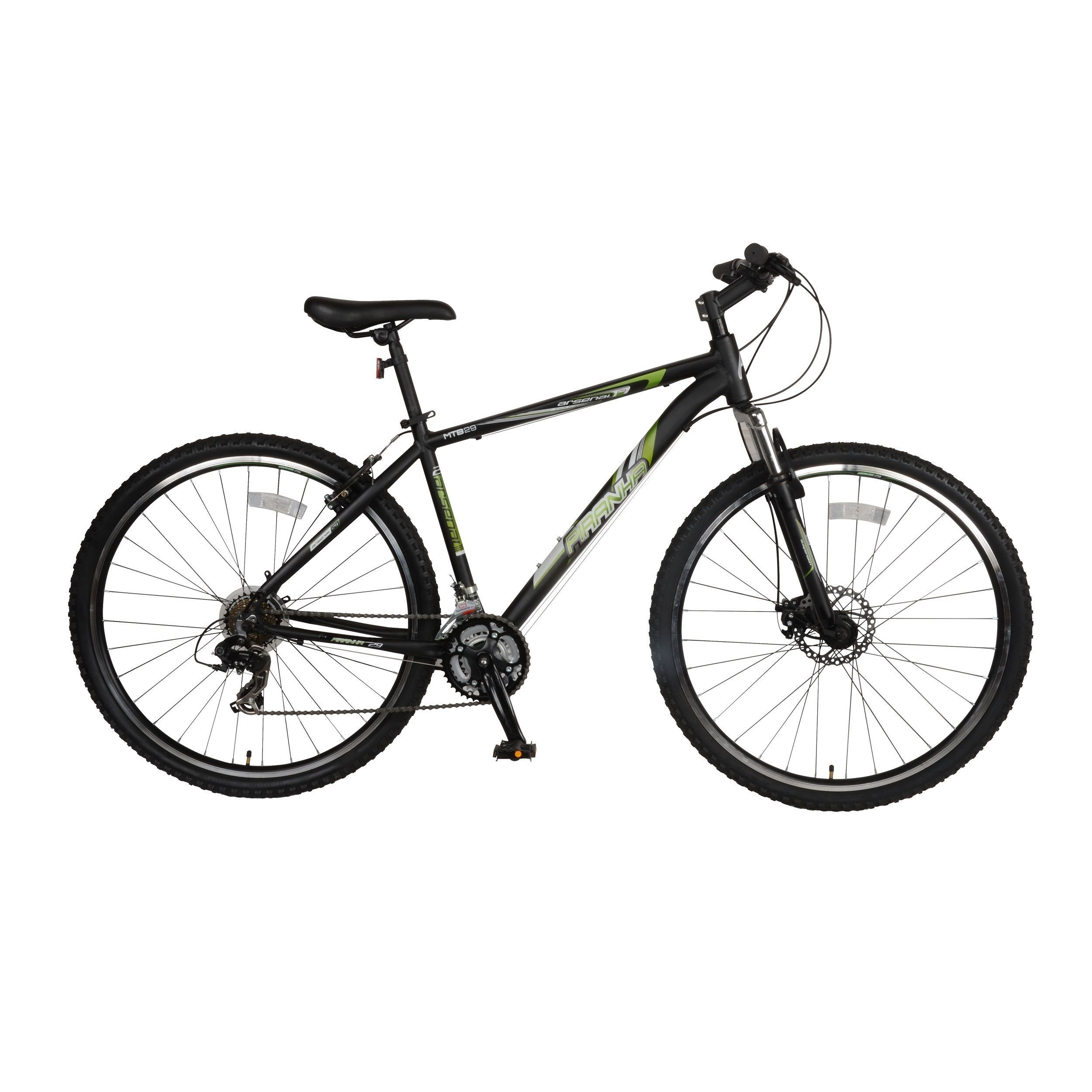 Piranha Men S Green Arsenal 1 7 Hardtail Mountain Bicycle With 29