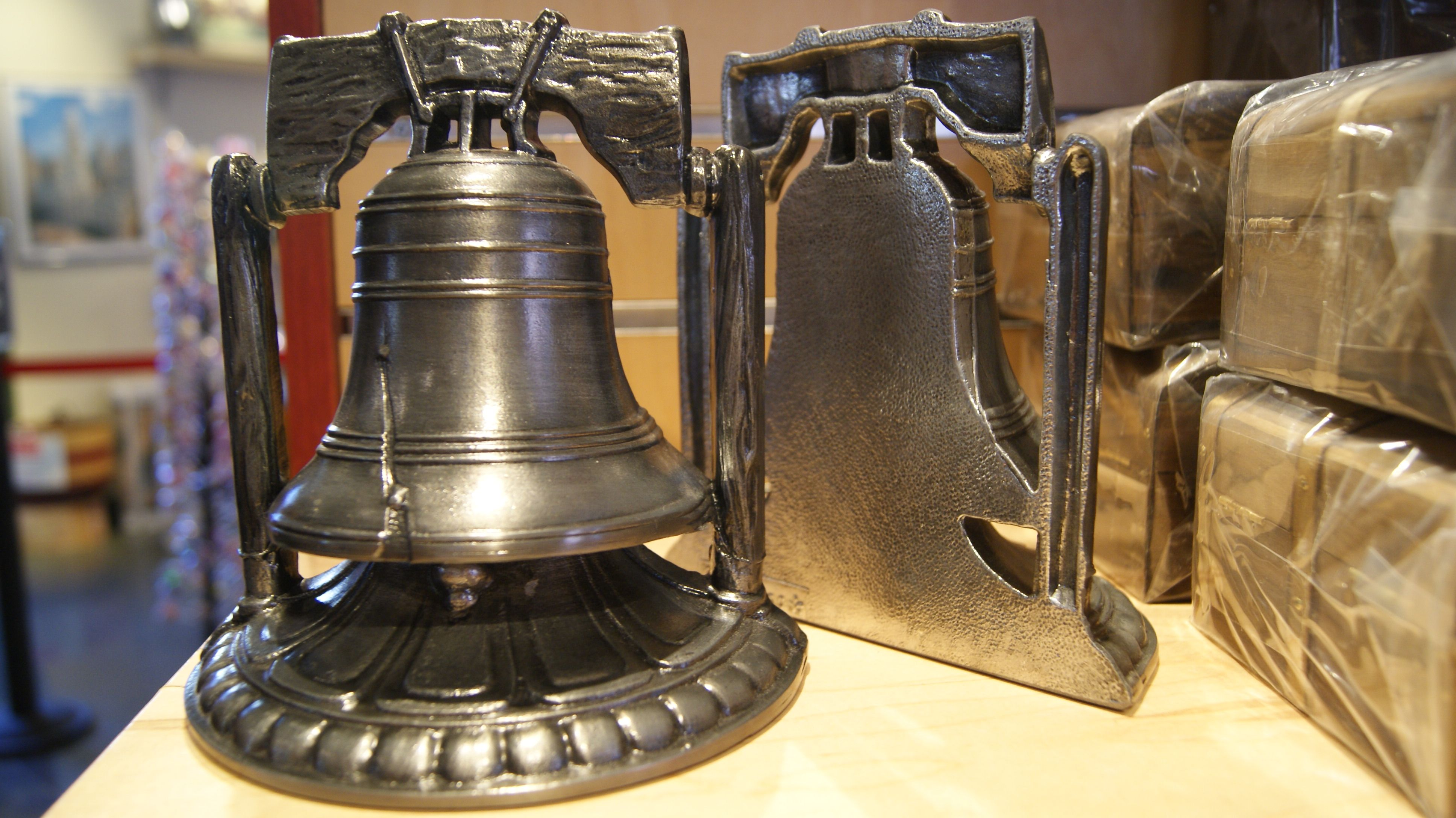Now you can use the Liberty Bell as a bookend!