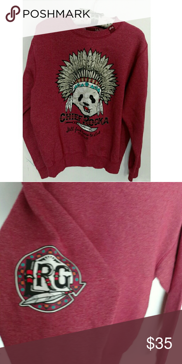 Cheif Rocka Crewneck Soft crewneck with a printed panda on the front. Never worn Tilly's Jackets & Coats