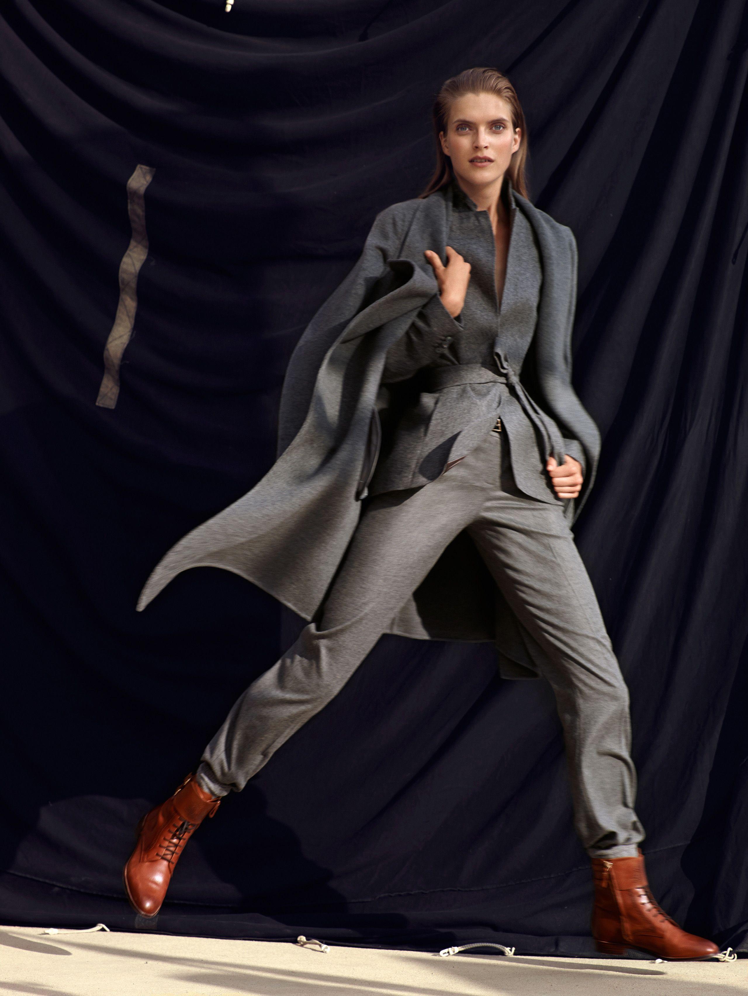Massimo Dutti October 2014 Lookbook Goes Urban Chic forecasting
