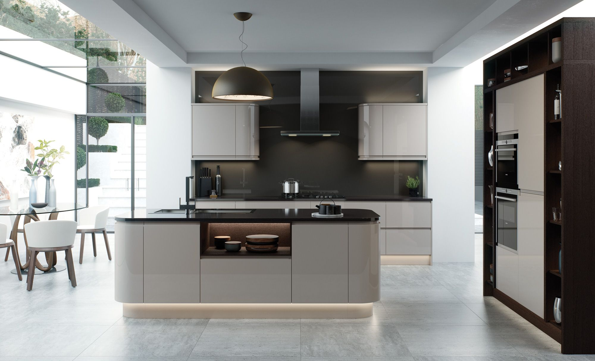 Grey kitchen modern kitchen london by lwk kitchens london - Modern Contemporary Strada Gloss Cashmere Kitchen