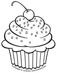 dibujos para colorear cupcakes   Buscar con Google   Cupcake
