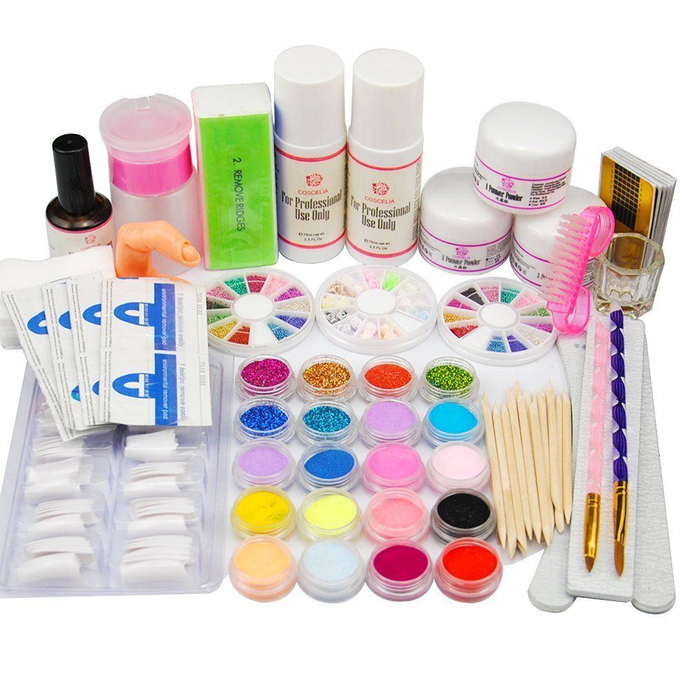 Coscelia Acrylic Powders Liquid For Nail Acrylic Glitters Files