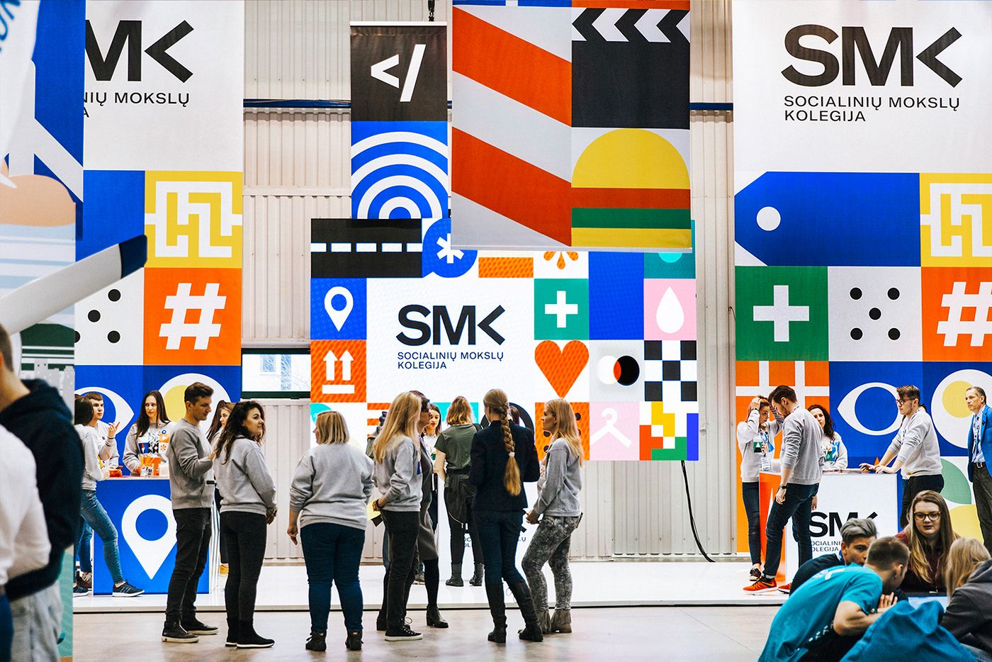 Smk University Of Applied Social Sciences On Behance With Images Social Science Conference Branding Visual Identity System