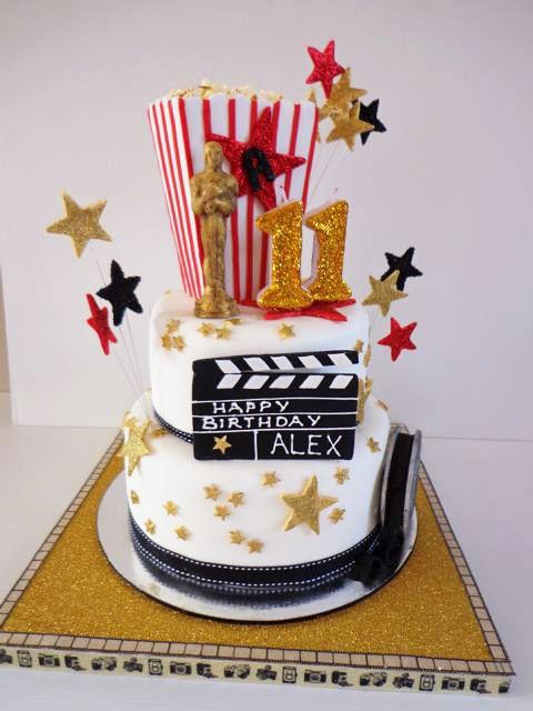 Movie Birthday Party Theme Ideas SIMONEmadeitcom Popcorn - Movie themed birthday cake
